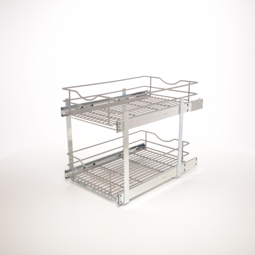 11 In Double Tier Pullout Baskets Simplyput Organizers