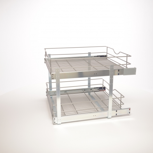 20 In Double Tier Pullout Baskets Simplyput Organizers